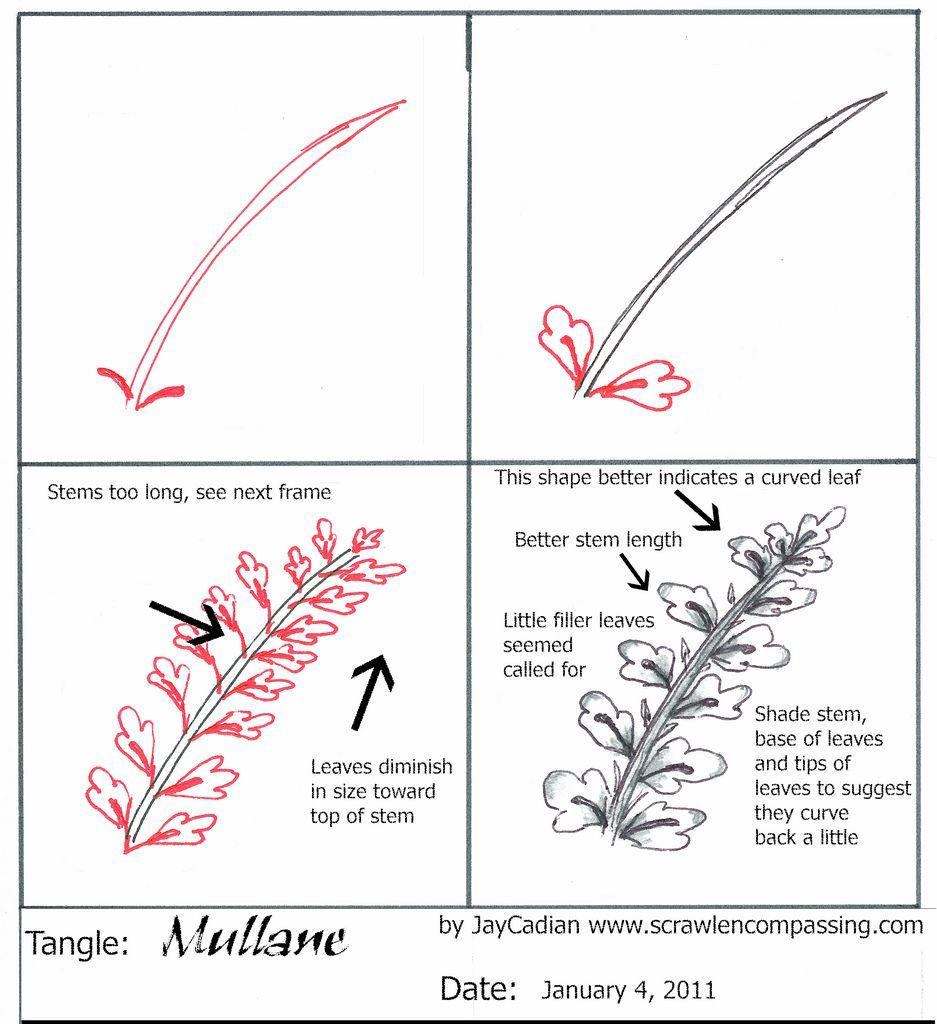 TanglePattern Mullane | by Jane Dickinson, CZT