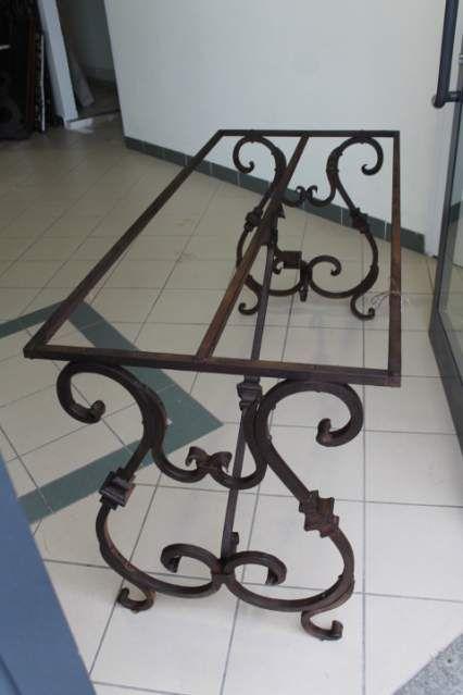 Tavolo in ferro battuto 1940 . Consolle Antica a ⤽Lira⤝ 4 | tavoli ...