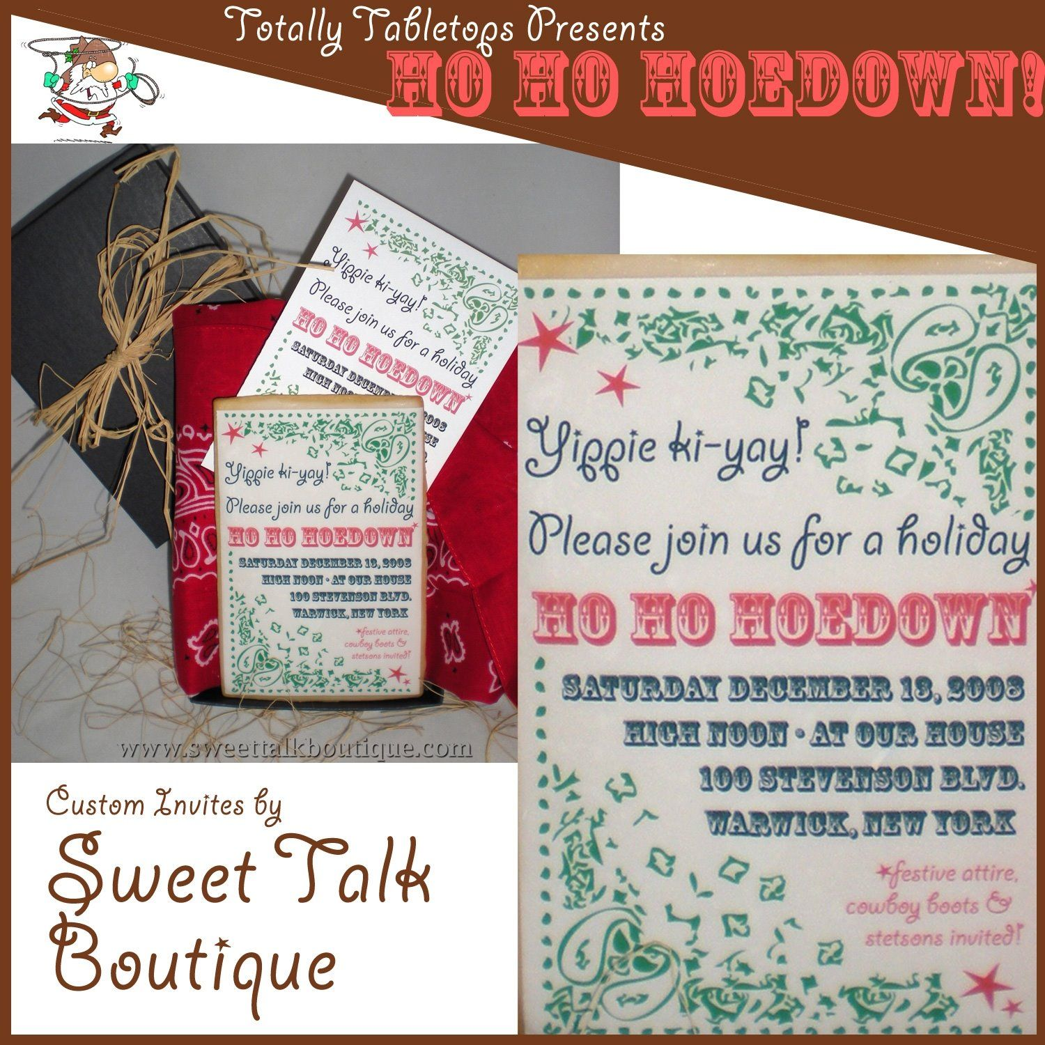 Ho Ho Hoedown invite | Ho Ho Hodown | Pinterest | Party time