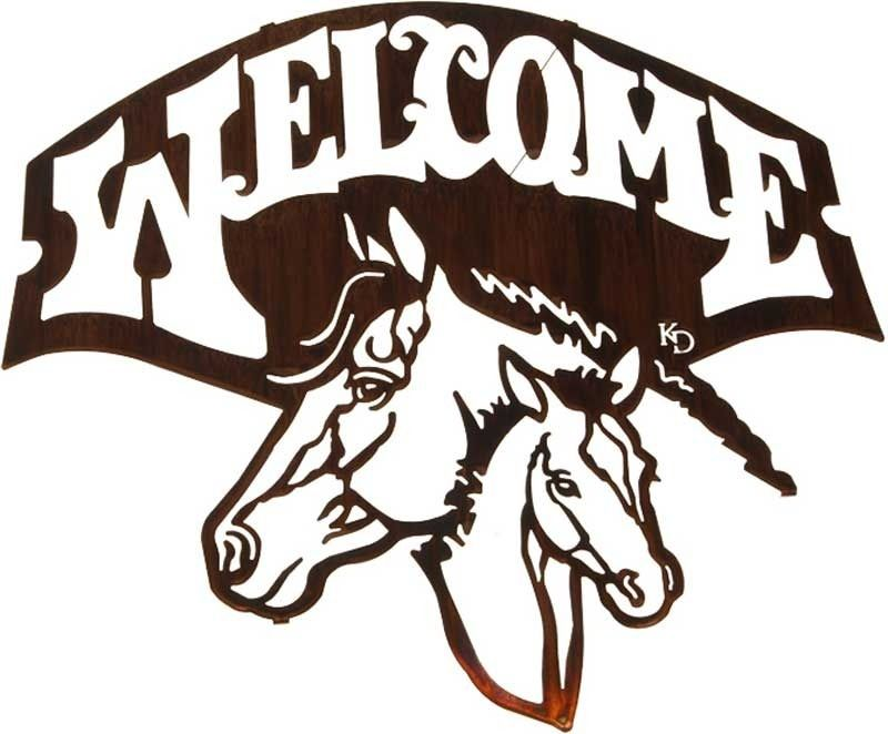 Wall Decor 20 Quot Horse Welcome Sign Metal Wall Art