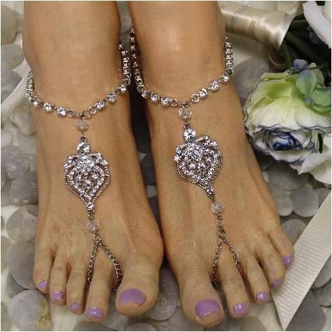 08dda2d6932fc2 GUINEVERE pearl barefoot sandals rhinestones