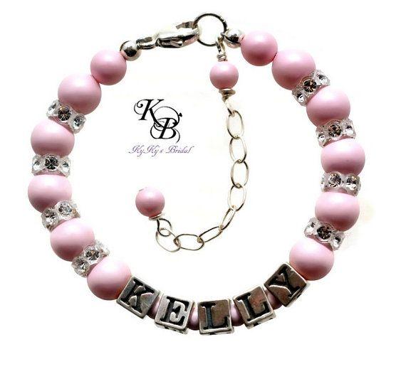 Baby bracelet personalized baby gift pastel jewelry newborn id baby bracelet personalized baby gift pastel jewelry newborn id bracelet keepsake bracelet negle Choice Image
