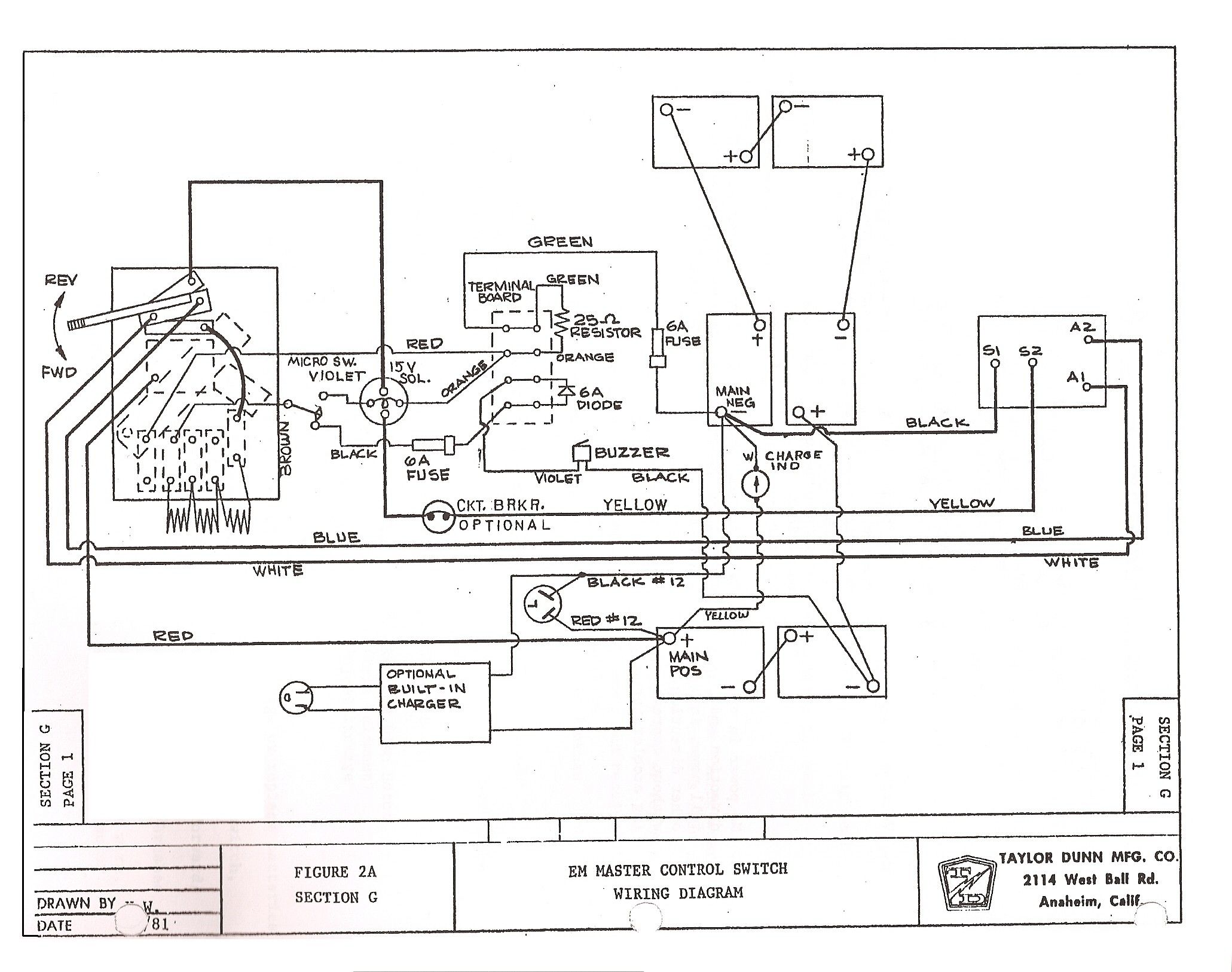 Unique Wiring Diagram for 1987 Club Car Golf Cart