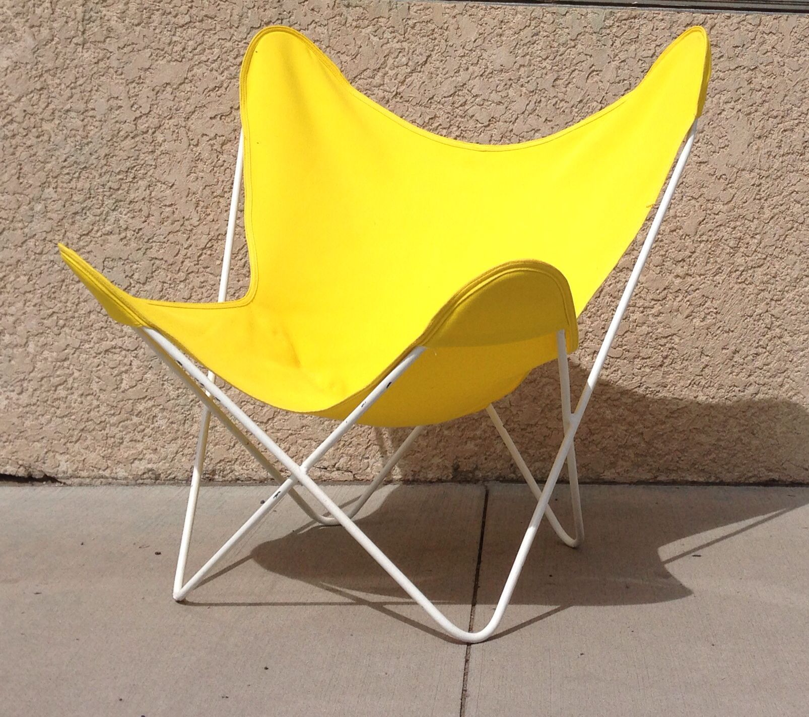Classic Modern Steel Frame Butterfly Chair.