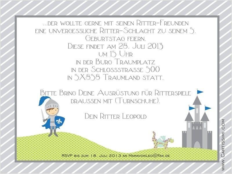 Kindergeburtstag Einladung Text Prinzessin Beeindruckendes Design Einladungskarten  Kindergeburtstag Ritter Kathypricefo