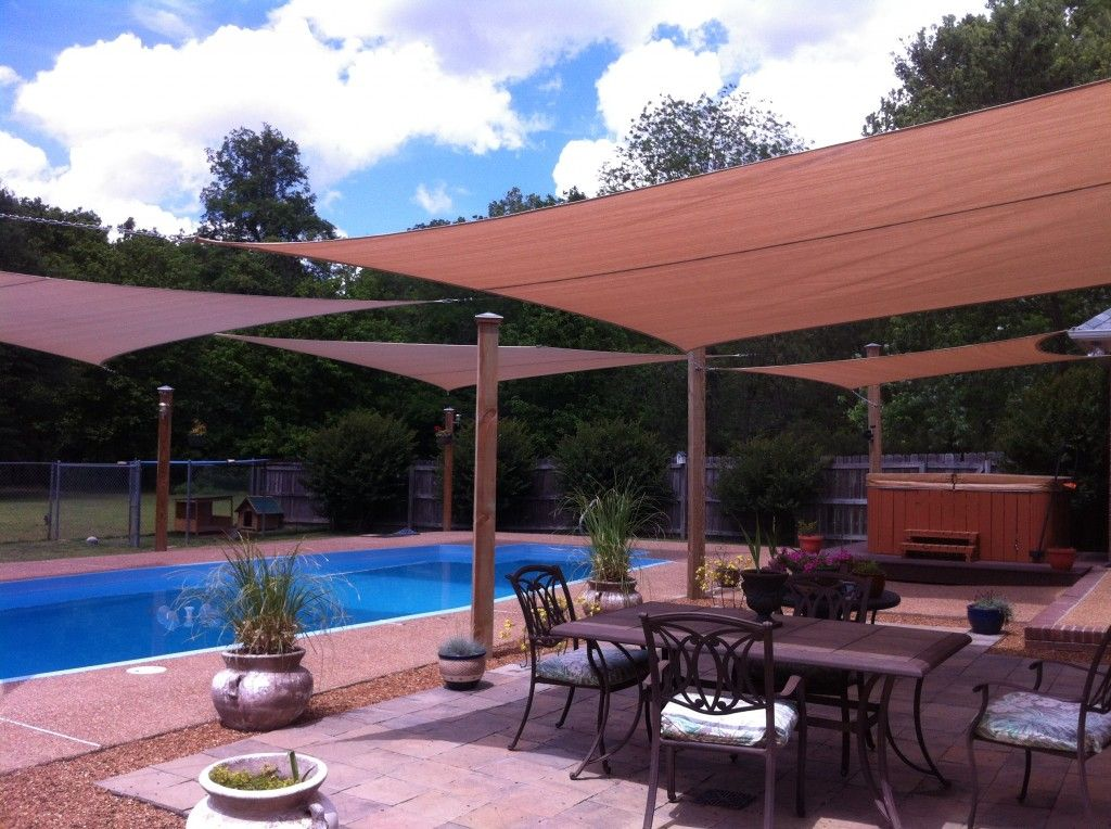 Superb Four Outdoor Sun Shade Sails 2012