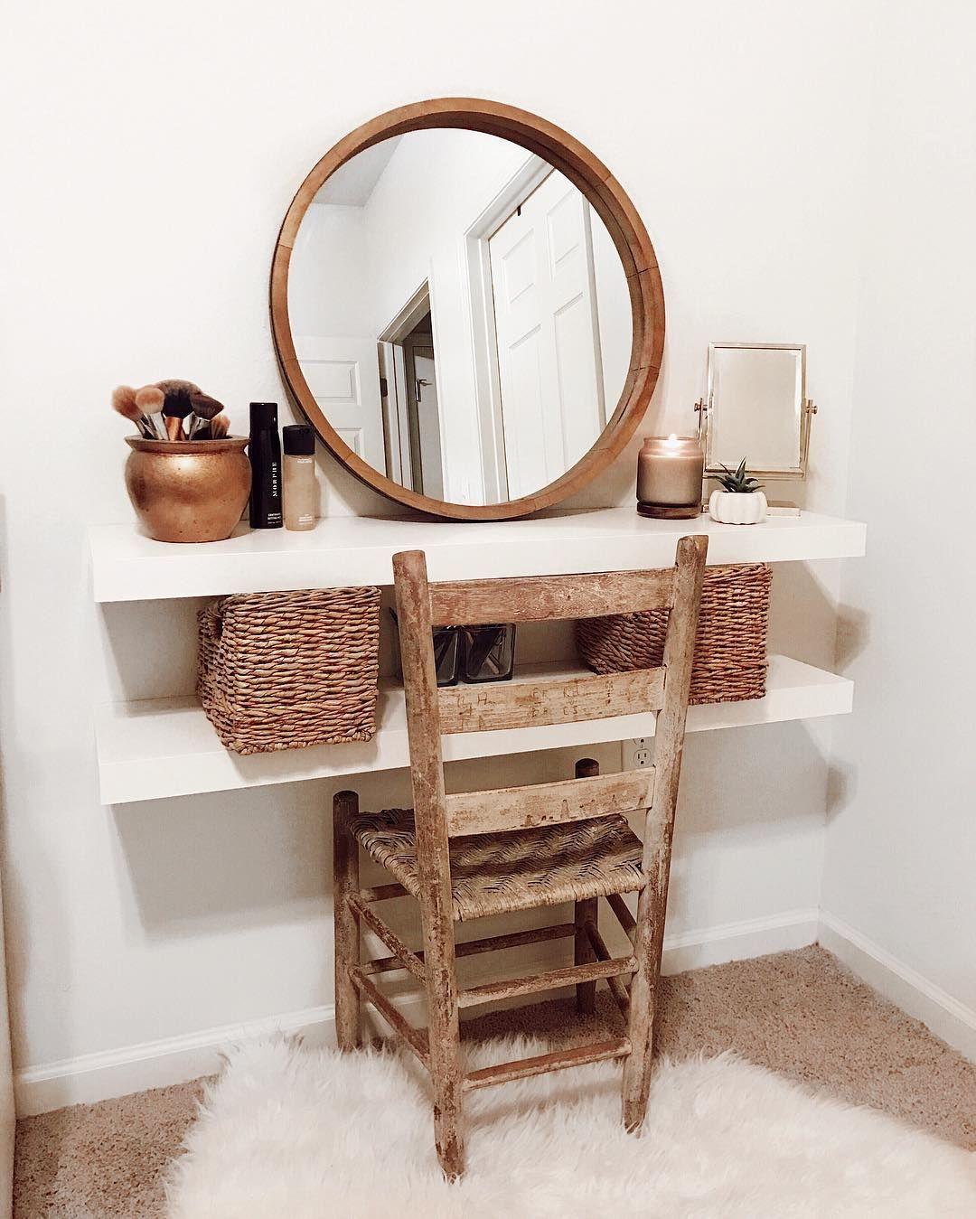 Ikea Lack floating shelves vanity Vanity decor, Floating