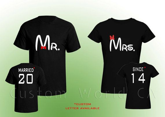 Couple Tshirt Married Since   Mr and Mrs   by CustomWorldCA, $34.99