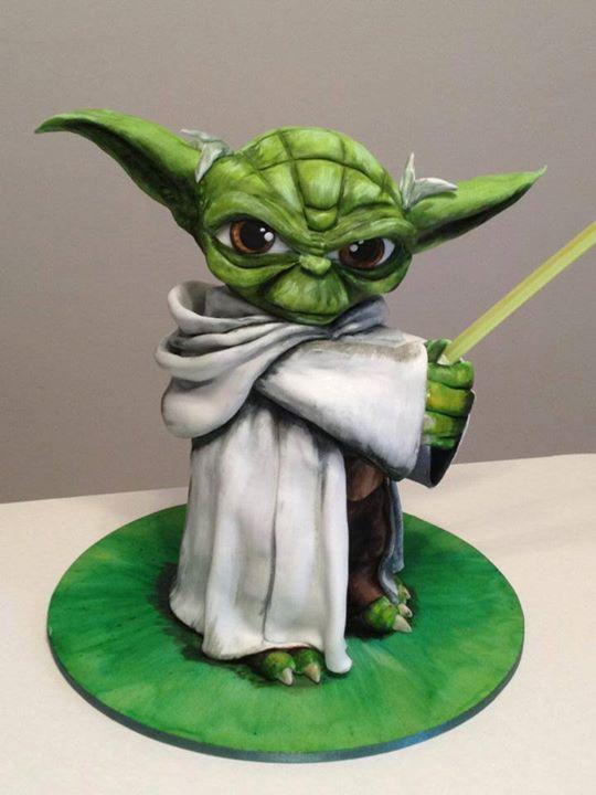 Yoda Cake Cakes Star Wars Kuchen Fondant Fondant Figuren