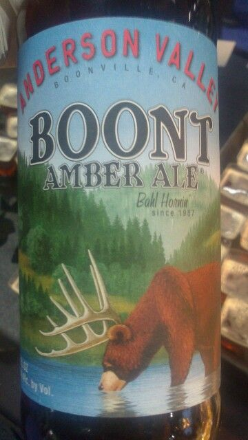 Boont, amber ale Anderson valley