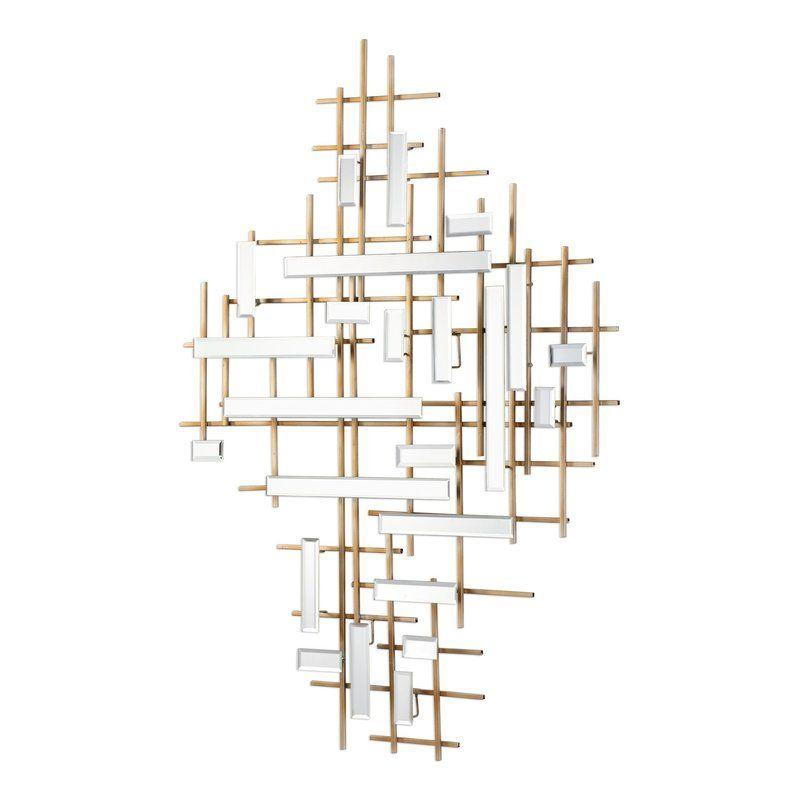 Everly Quinn Apollo Mirrored Wall Decor Wayfair Mirror Wall Art Mirror Wall Decor Gold Mirror Wall