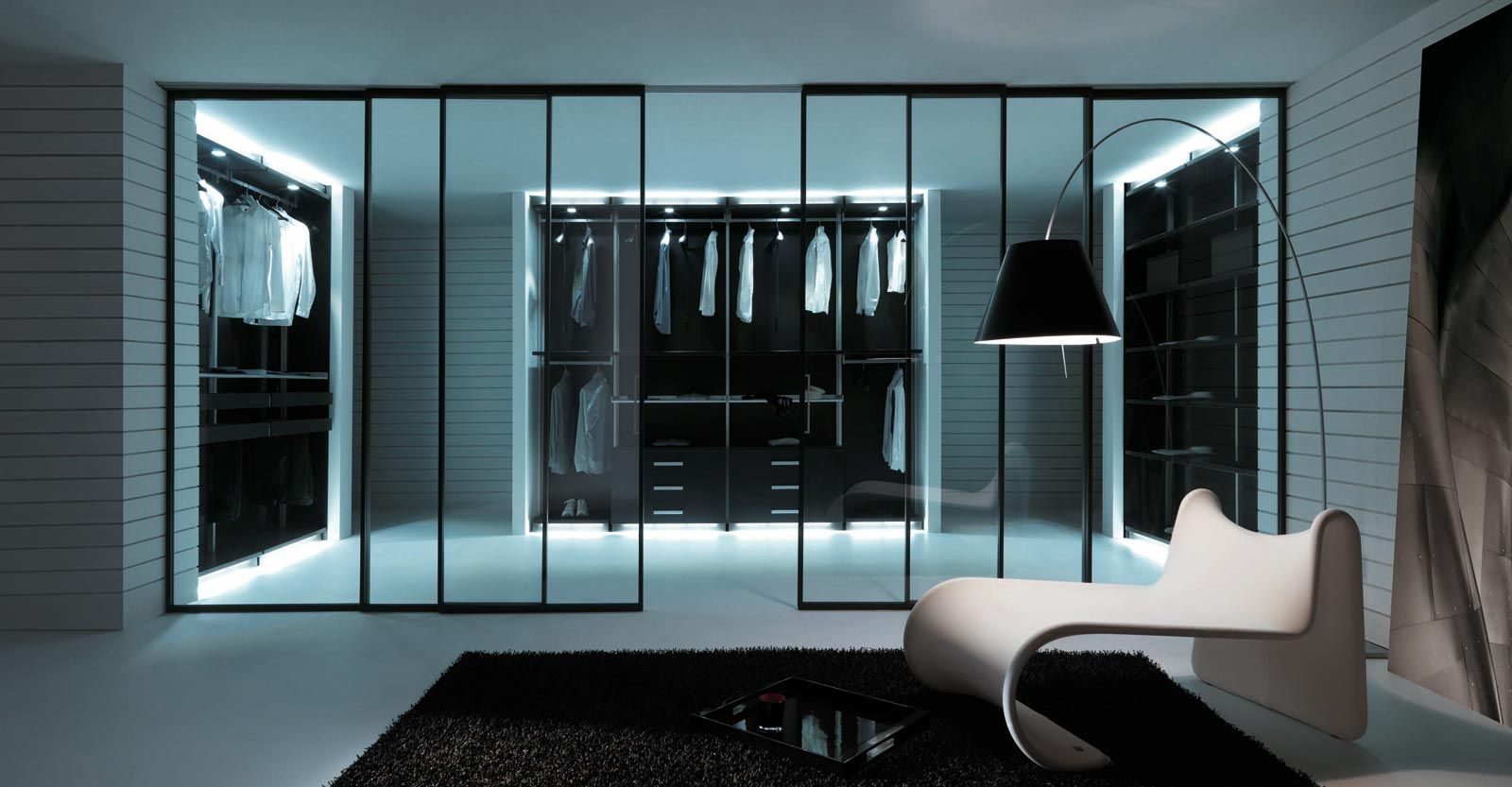 Un dressing contemporain et pratique | HOMEZ | Pinterest | Dressing ...