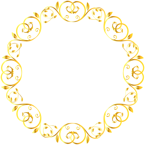 Decorative Round Border Frame Clip Art Image In 2021 Frame Clipart Art Images Clip Art