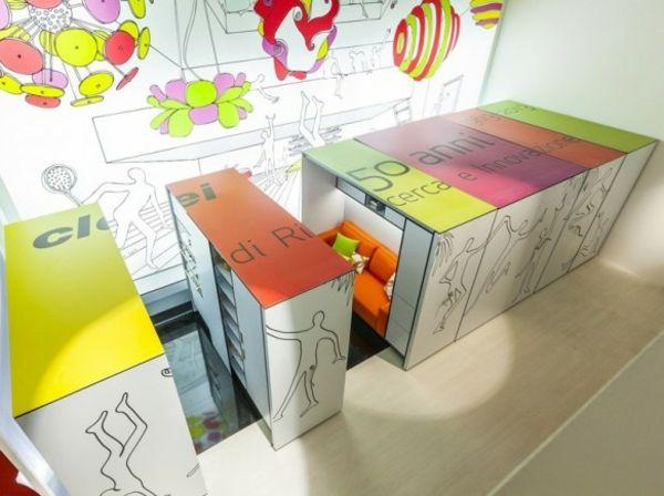 Elastic Living Ausziehbare Regale Verstecken Modulare Zimmer