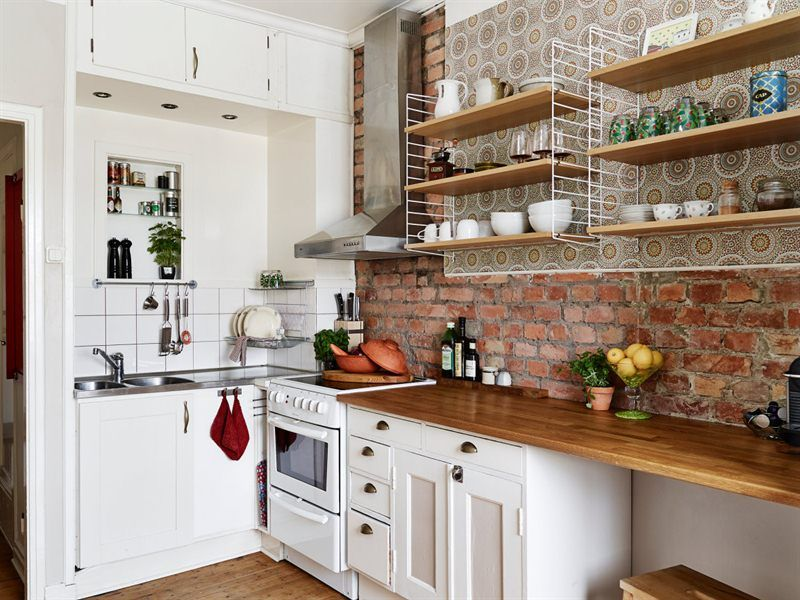 Related Image Eclectic Kitchen Brick Kitchen Home Kitchens