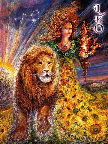 Josephine Wall - Leo - Zodiac Greeting Card July 23 - August