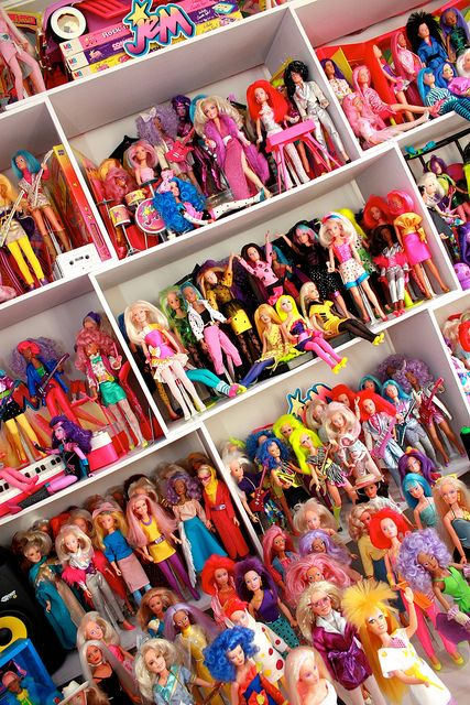 "A ""truly outrageous collection"" of Jem and the Holograms toys. My 8-year-old self just squeed."