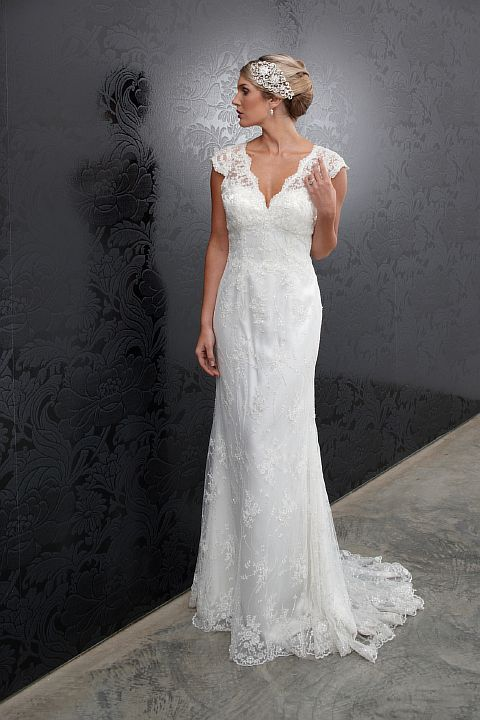 Bridal Gowns Lace Fishtail Wedding Gown With Halo Sydney Dress