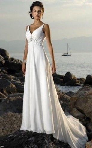 Einfache Brautkleider für den Strand Günstige Einfache Chiffon ...