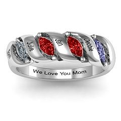 "Engraved 2-5 Marquise Ring #jewlr   ""For Mom's Birthday 2013"