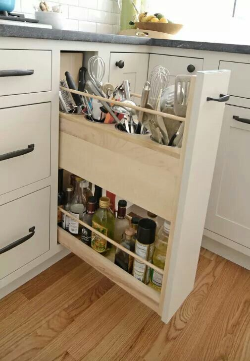 Functional kitchen cabinet for tools   Home: Kitchen   Pinterest ...