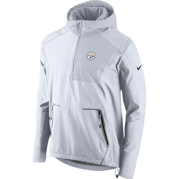 66f68fd6f06f2 Men s Pittsburgh Steelers Nike White Champ Drive Vapor Speed Fly Rush Flash  Half-Zip Pullover Jacket - NFLShop.com