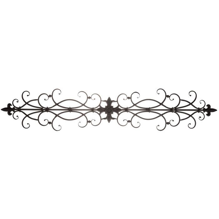 Black Scroll Metal Wall Decor