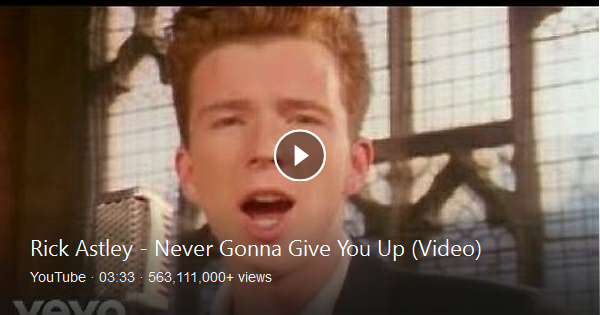 Rick Astley Never Gonna Give You Up Official Video Listen On Spotify Http Smarturl It Astleys Youtube Videos Music Rick Astley Never Gonna Rick Astley