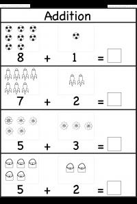 Picture Addition Beginner Addition Kindergarten Addition 5 W Kindergarten Math Worksheets Free Kindergarten Addition Worksheets Preschool Math Worksheets