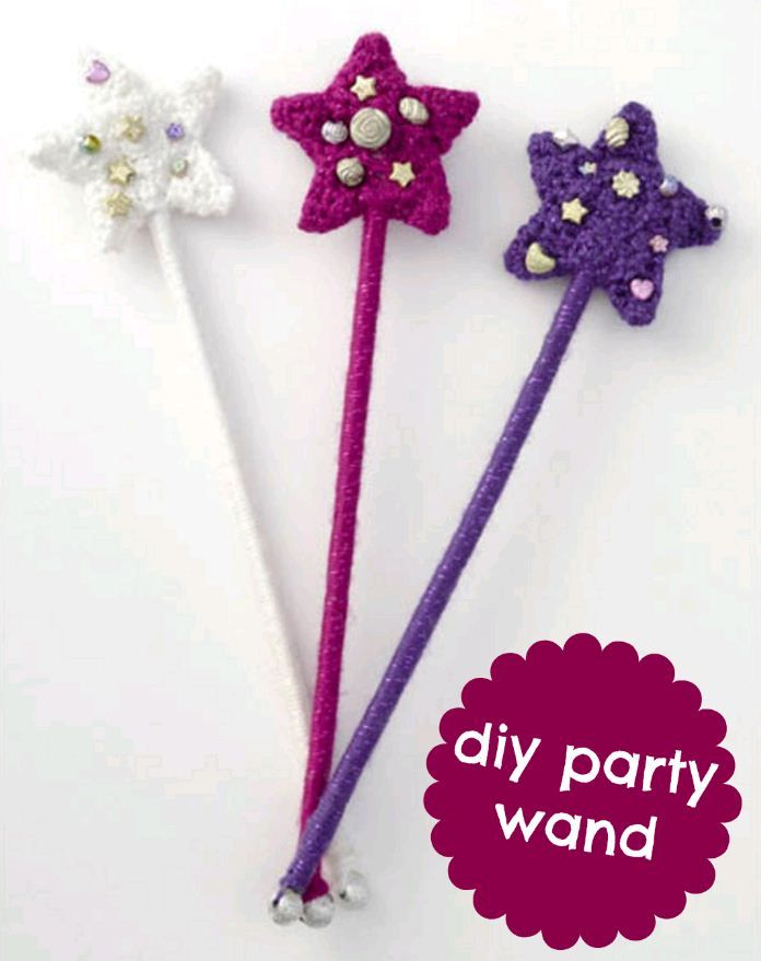 DIY party wands :) #crochet #kids #party #creativitymadesimple