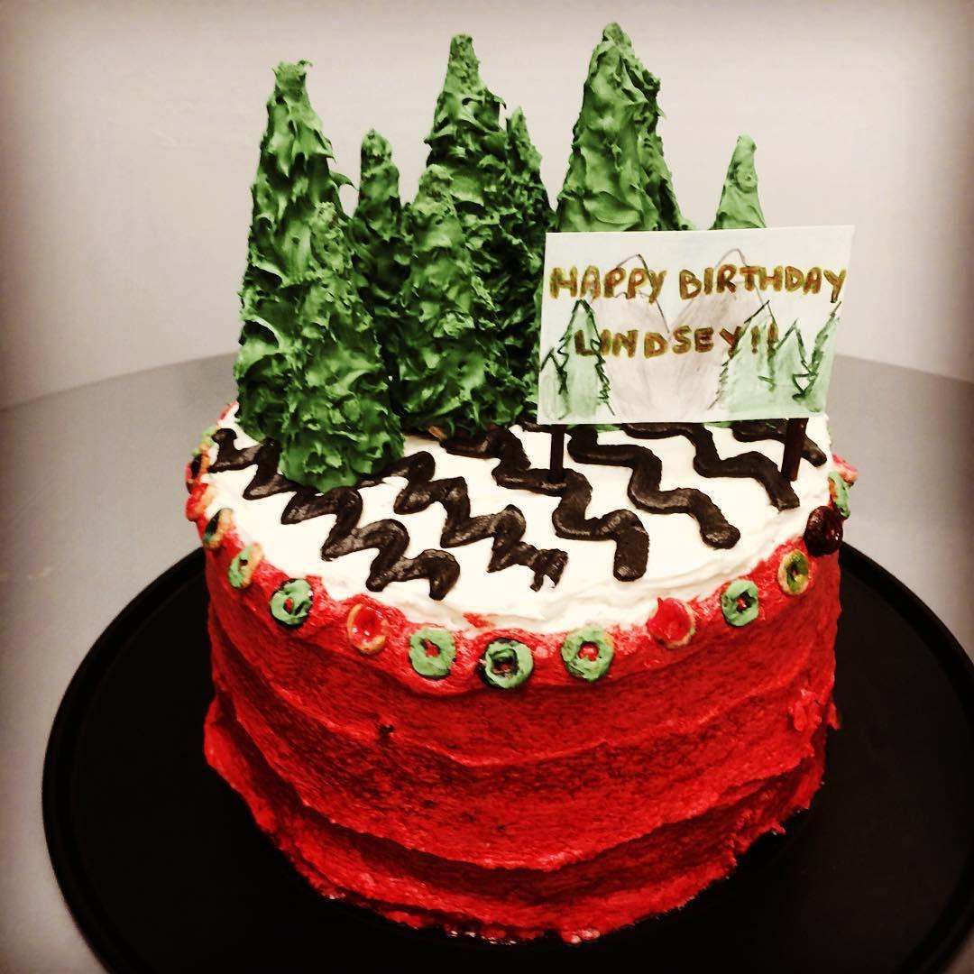 Twin Peaks Birthday Cake I Made Twinpeaks Davidlynch