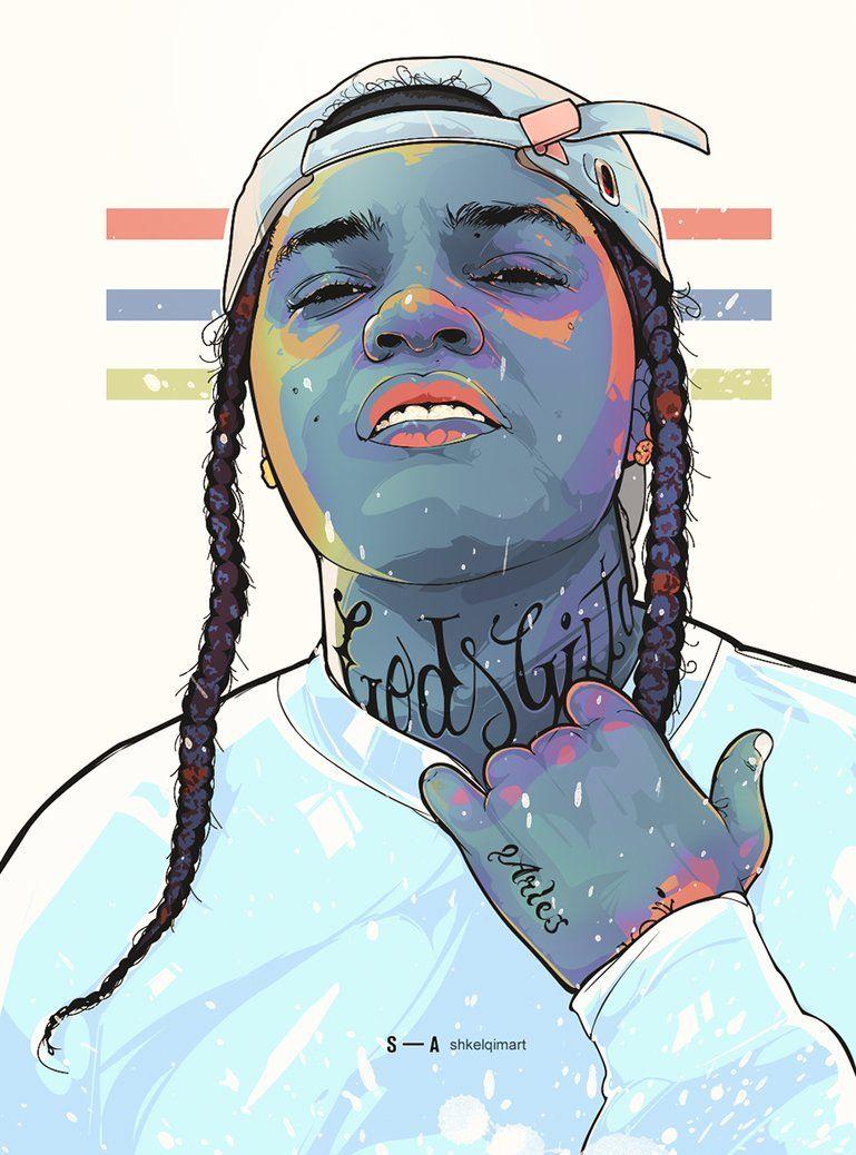 Young M A Artwork By Shkelqimart Nbsp Hip Hop Artwork Cartoon Art Hip Hop Art