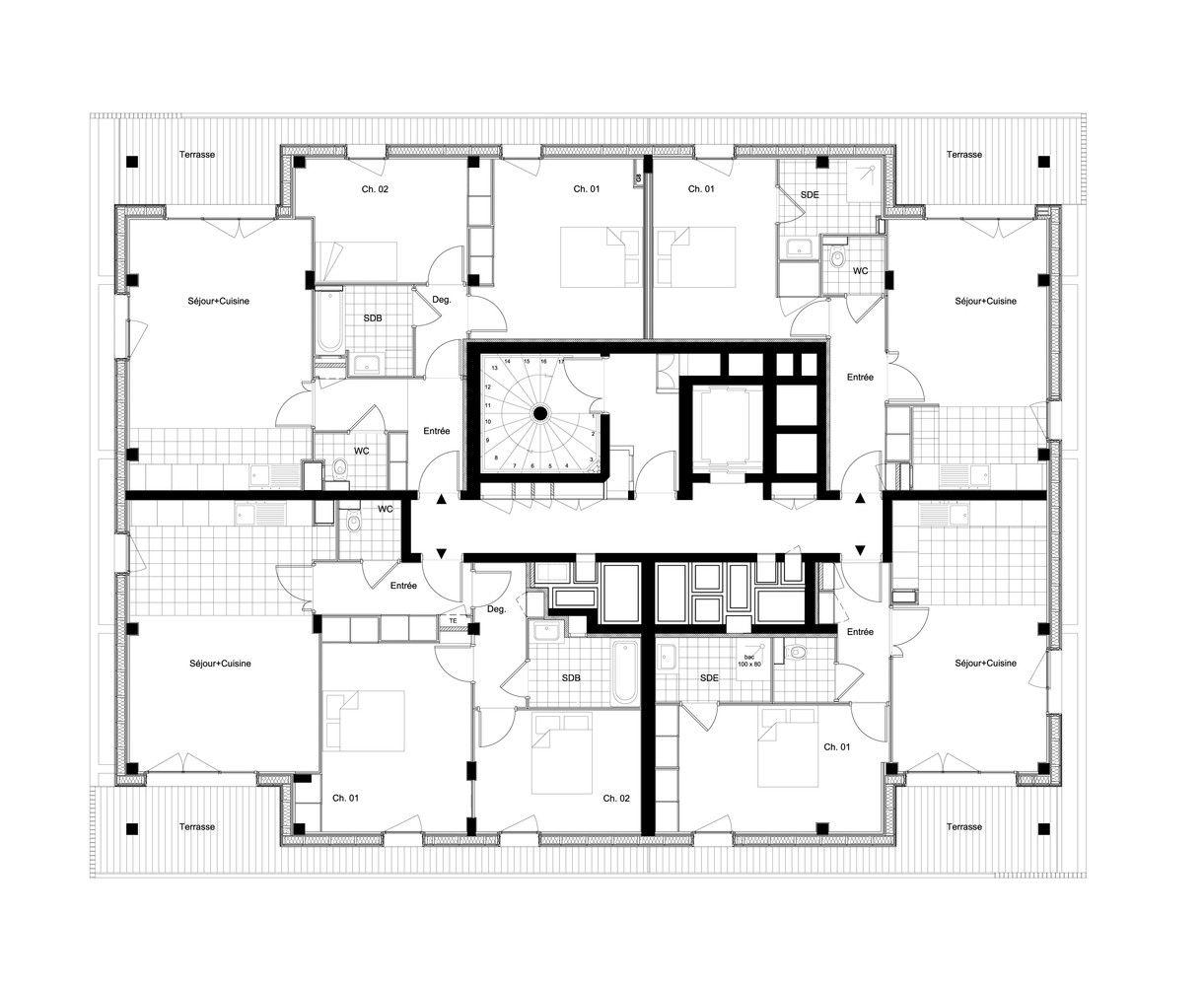 Galeria de Complexo de Casas e Lojas / Ameller, Dubois
