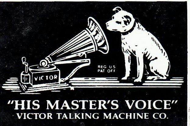 Masters voice Victor Talking machine Metal Sign