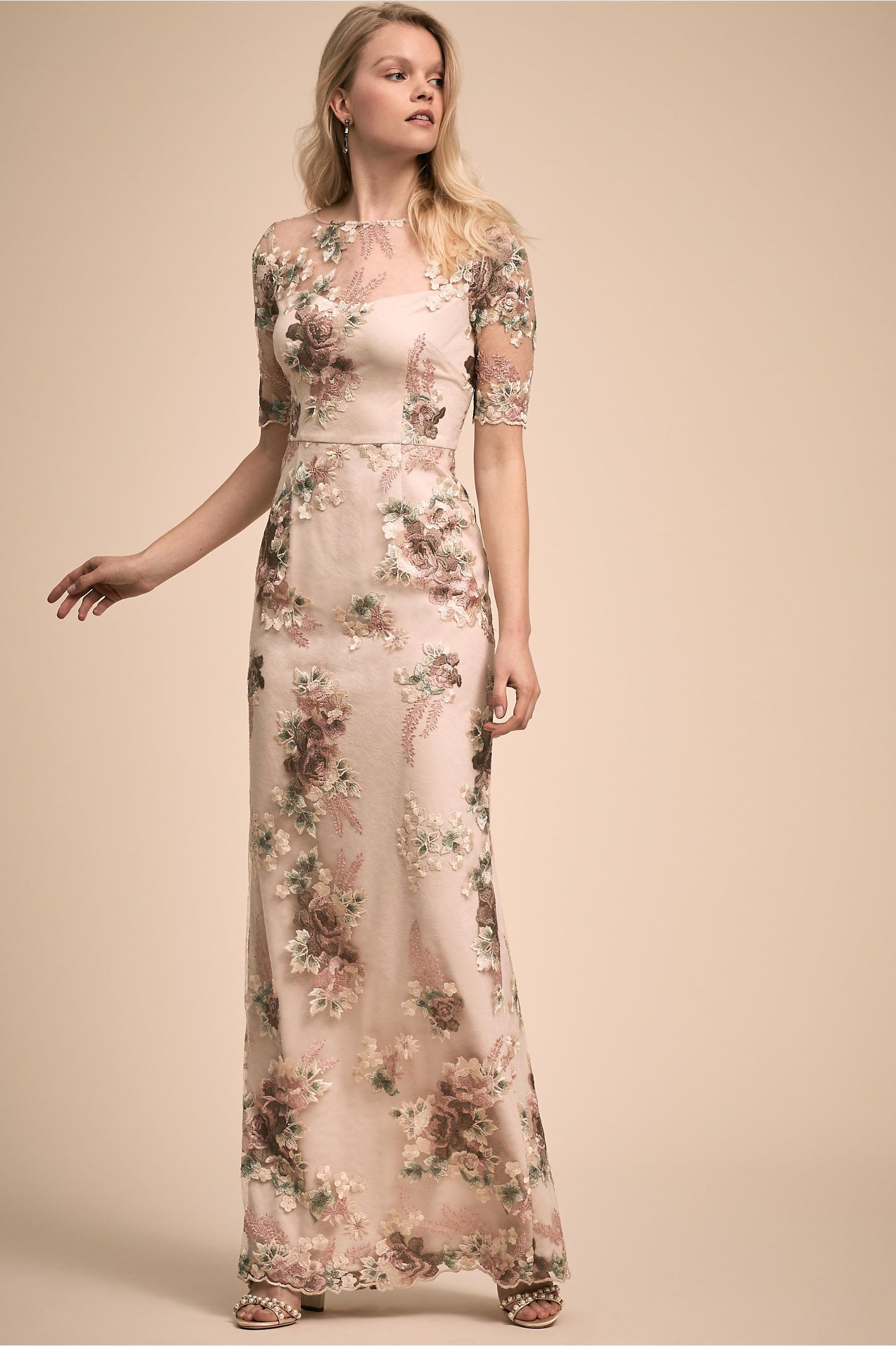 7483f8e1716 BHLDN s Adrianna Papell Roman Dress in Mink Multi in 2019