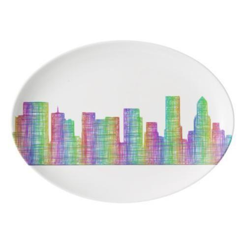 Portland Serving Platter: Portland City Skyline Porcelain Serving Platter