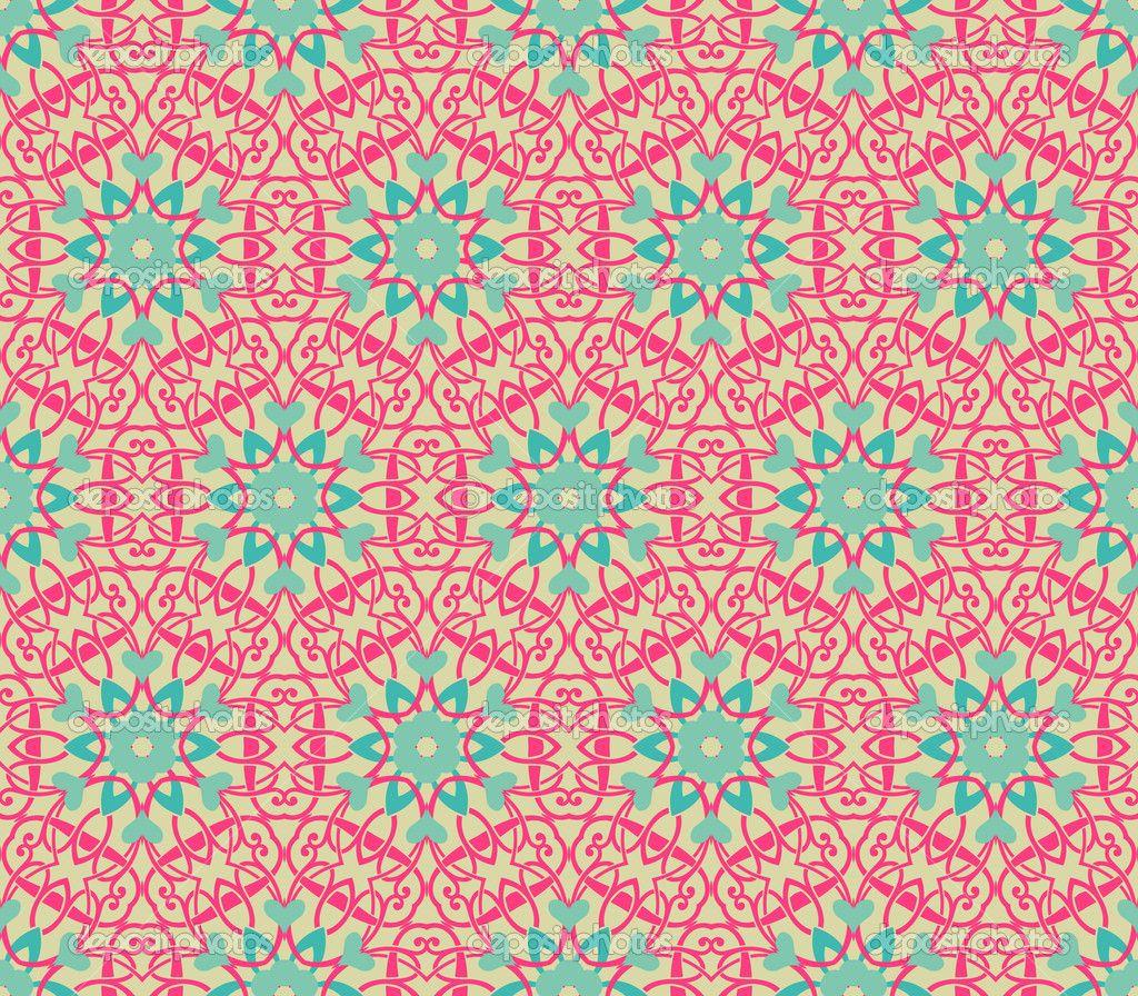 Vintage pattern wallpaper vector seamless background