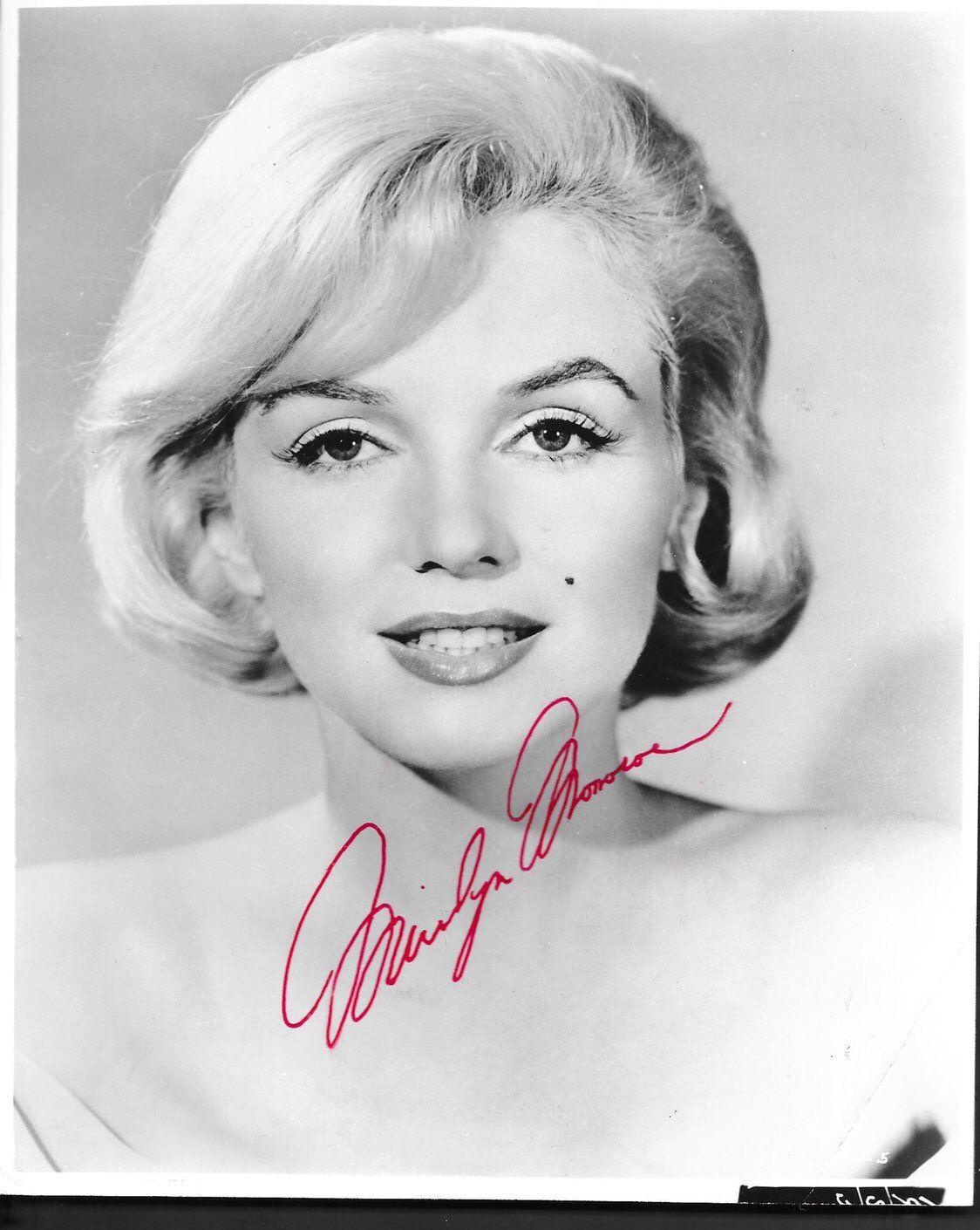 ++Hollywood Legende++ +Autogramm+ Marilyn Monroe