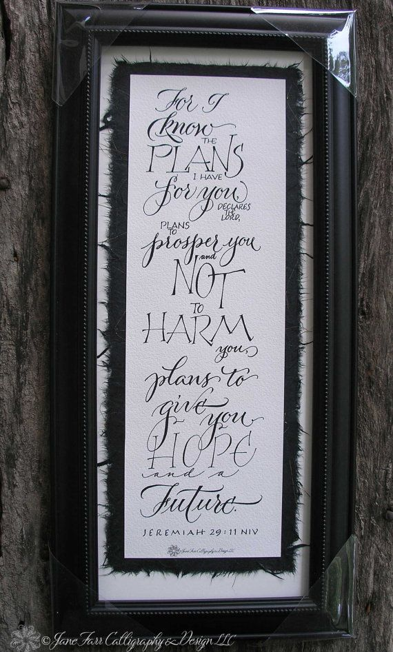 Quote for Graduation  Jeremiah 2911 Bible by APlaceToFlourish, $89.00
