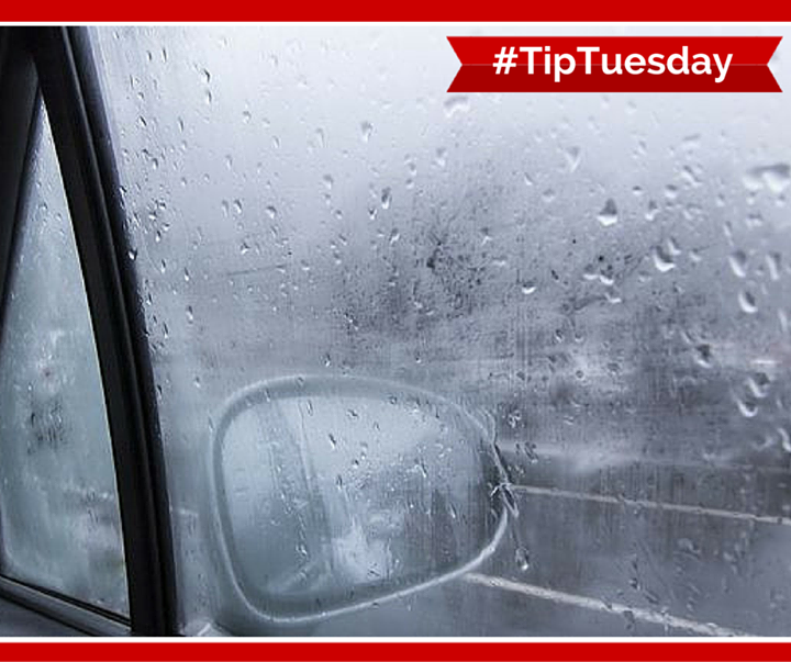 Foggy Windows? Apply shaving cream to the interior of car windows then wipe off. This will keep your windows from fogging up. #TipTuesday
