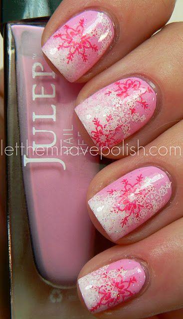 Pink Holiday Nails