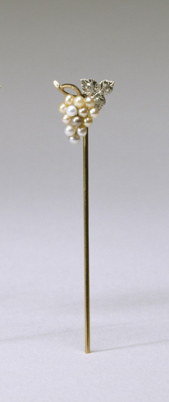 American 1910 Gold Diamonds Pearl Stick Pins Hat Pins Antique Hats