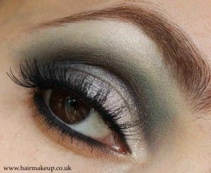 Eye Makeup Ideas for Weddings....Smoky teal eyeshadow with silver highlights .....♥ love teal and silver look