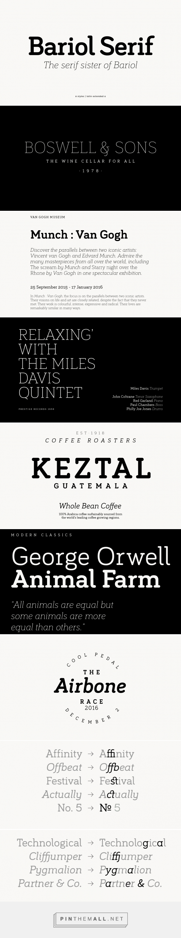 bariol serif | atipo foundry... - a grouped images picture - Pin Them All