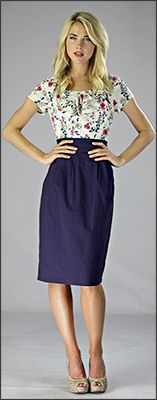 Charlotte Dress *CLEARANCE* [MD1007] - $29.99 : Mikarose Fashion, Reinventing Modest Fashion