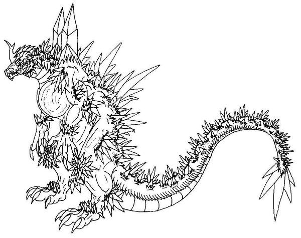 Spacegodzilla By Scathatheworm On Deviantart Lineart Godzilla Rhpinterest: Godzilla Gigan Coloring Pages At Baymontmadison.com