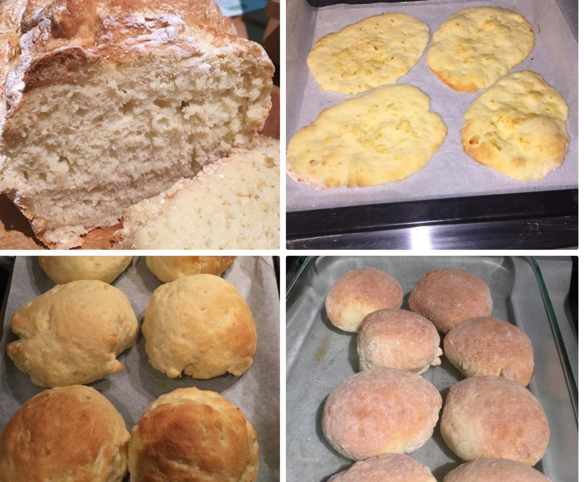 One Basic Gluten Free Bread Dough 3 Ways Instructions For Making Naan Bread Rolls Or A Small Loaf Of Bread Recipe Gluten Free Bread