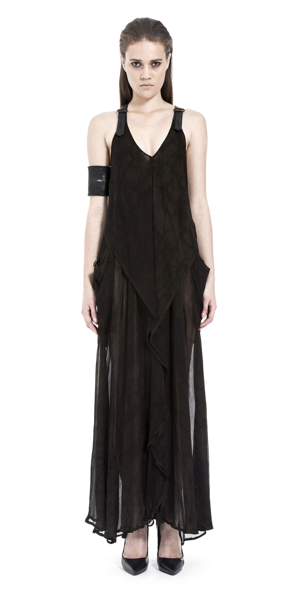 Prepare to experience power and luxury in this long, light weight dress.