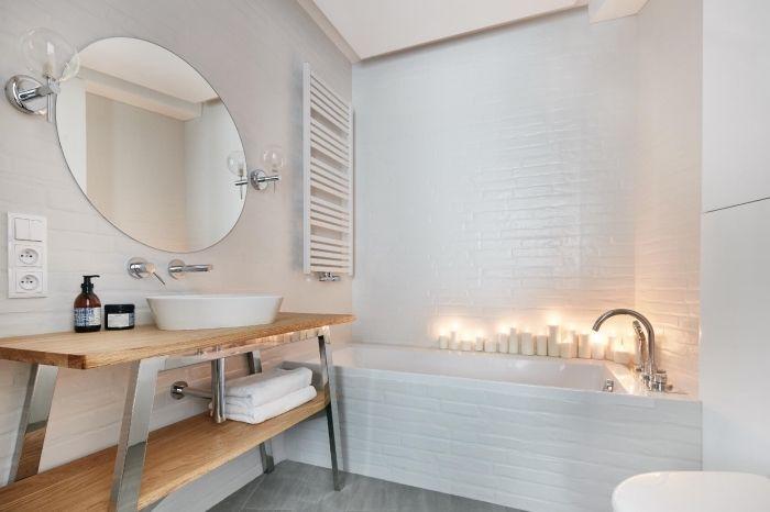 ▷ 1001 + modèles impressionnants de la salle de bain blanche - Meuble Avec Miroir Pour Salle De Bain