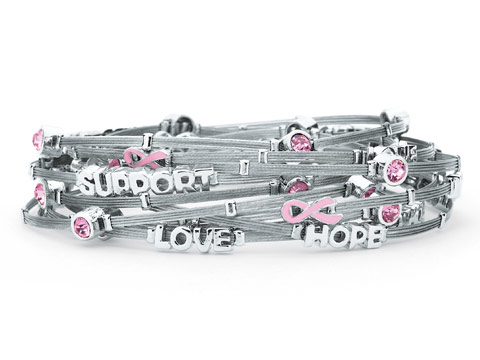 Crystal Wire Bangles : Hope & Support:   (set of 10)   *Cookie Lee*   #26501  $38
